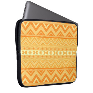 Apricot - Aztec Laptop Sleeve