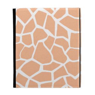 Apricot Color Giraffe Animal Print iPad Folio Case