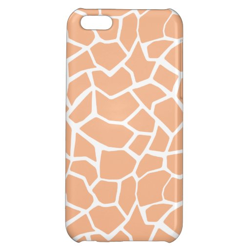 Apricot Color Giraffe Animal Print iPhone 5C Covers