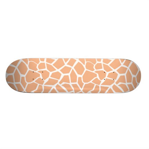 Apricot Color Giraffe Animal Print Skate Decks