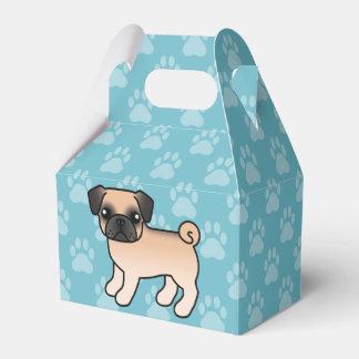 Apricot Fawn Pug With Morrison Mask Cartoon Dog Favor Box