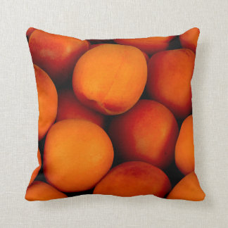 Apricot fruit pattern throw pillow