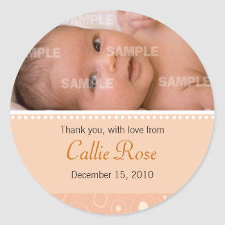 Apricot Gumdrop Baby Message Sticker