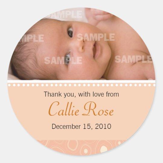 Apricot Gumdrop Baby Message Sticker