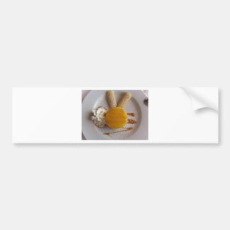 Apricot jam covered ice cream cake bumper sticker