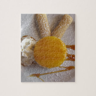 Apricot jam covered ice cream cake jigsaw puzzle