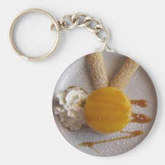 Apricot jam covered ice cream cake keychain