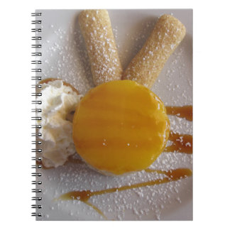 Apricot jam covered ice cream cake notebook