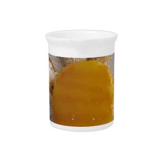 Apricot jam covered ice cream cake pitcher