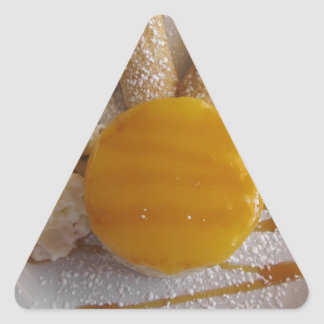 Apricot jam covered ice cream cake triangle sticker
