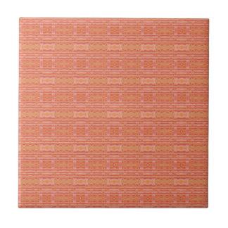 Apricot Mango Textured Geometric Tile