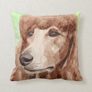 Apricot Poodle Gifts Throw Pillow