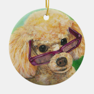 Apricot Poodle Ornament Christmas Gift