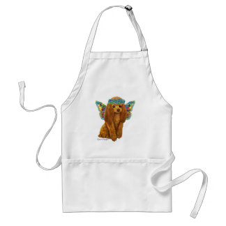 Apricot Red Poodle Fairy Standard Apron