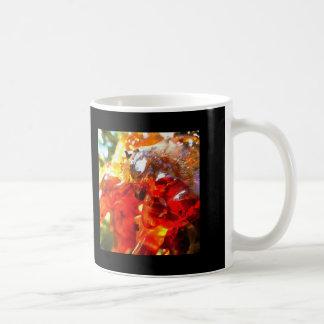 Apricot Resin Abstract Coffee Mug