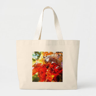 Apricot Resin Abstract Large Tote Bag