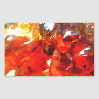 Apricot Resin Abstract Sticker
