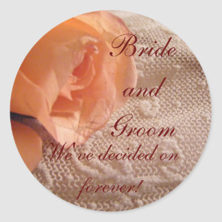Apricot Rose and Lace Envelope Seals