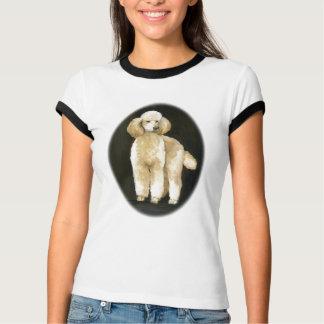 """""""Apricot Standard Poodle"""" Dog Art Ringer T-shirt"""