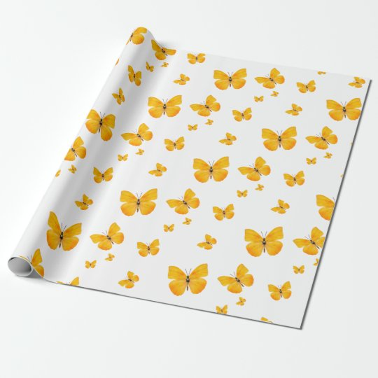 Apricot Sulphur Butterfly Gift Wrap