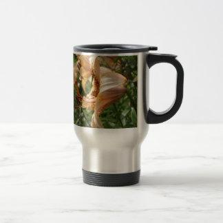 Apricot Tiger Lilies Travel Mug
