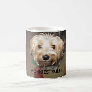 APRIL 14. 2008 043, MORKIES  RULE! COFFEE MUG