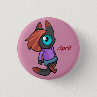 April 1 Inch Round Button