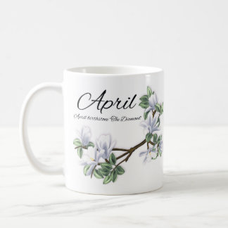 April Birthstone Magnolia Birthday Gift Mug