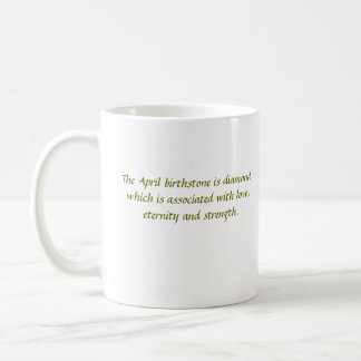 April birthstone mug
