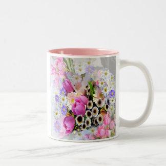 April Bouquet ~ Two Tone Mug