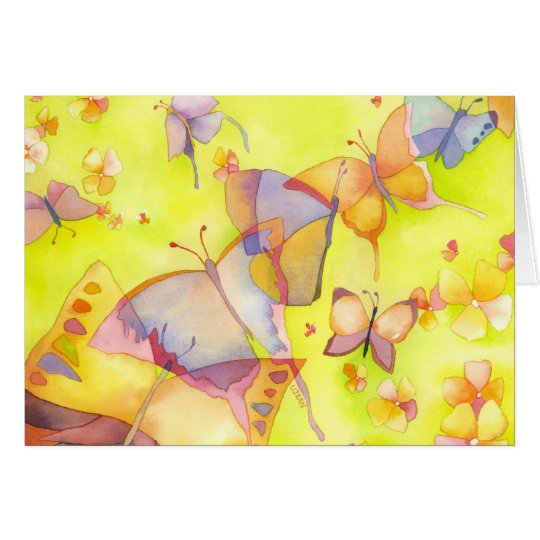April Butterflies Birthday Card