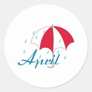 April Classic Round Sticker