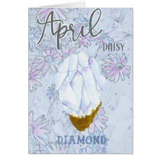 April Daisy and Diamond Birthday Blu Card