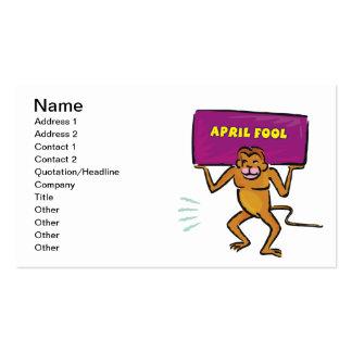 April Fool Business Card