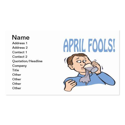 April Fools Business Card Templates