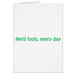 April fools card