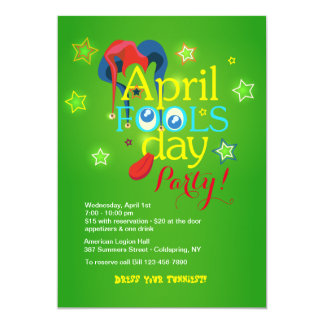 April Fool's Day Party Invitation