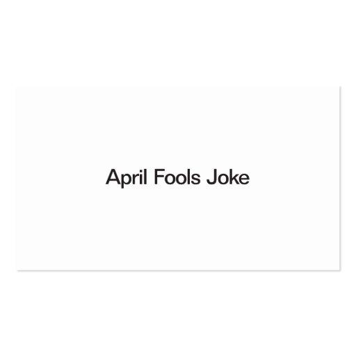 April Fools Joke Business Card Templates