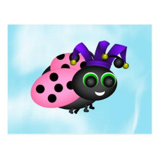 April Fools Ladybug Postcard
