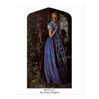 April Love By Arthur Hughes Postcard