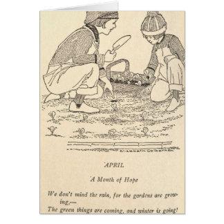 April Poem Card