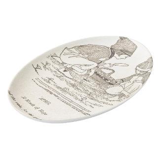 April Poem Porcelain Serving Platter