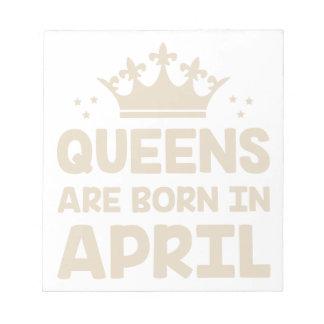 April Queen Notepad