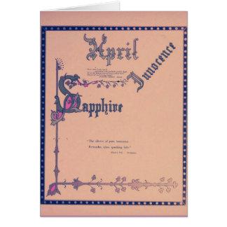 April Sapphire Card