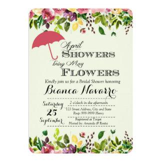 April Showers Bridal Shower Invitation