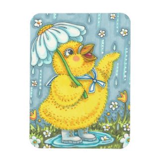 APRIL SHOWERS BRING MAY FLOWERS BABY CHICK MAGNET