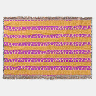 April Showers_Mod-Stripes-Yellow-Pink-Blankets Throw Blanket