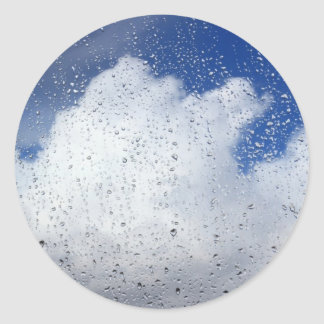 April Showers Round Sticker