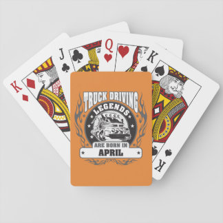 April Truck Driving Legends Playing Cards