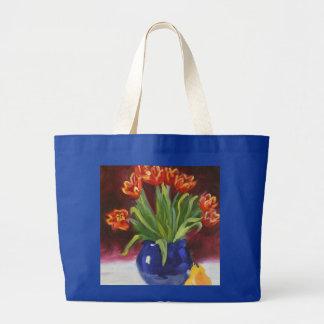 April Tuliips Large Tote Bag